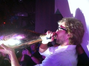 Dirk with Champagne