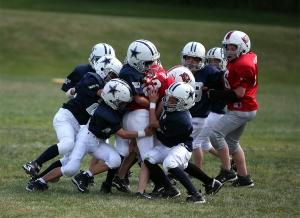 little kid football