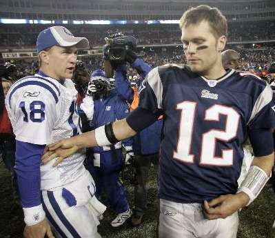 the long standing match up between tom brady and peyton manning Only one of the quarterback legends will get a chance to play for another super bowl title.