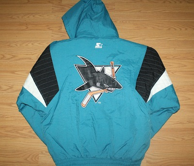 used to own this sharks starter jacket wish i still did # swag