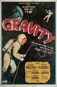 """An Outer Space Thrill Ride in 3-D!"" Poster by Peter Stults."